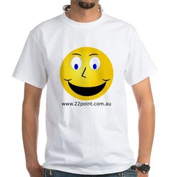[Smiley tile from Rapitap on a t-shirt]